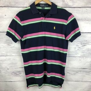 Polo Ralph Lauren Polo Striped Small Blue Pink